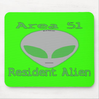 Area 51 Resident Alien Mouse Pad