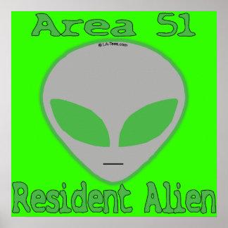 Area 51 Resident Alien Poster