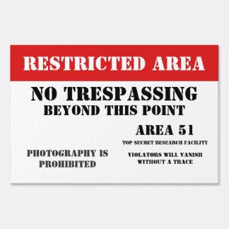 Area 51 Restriced Area Sign
