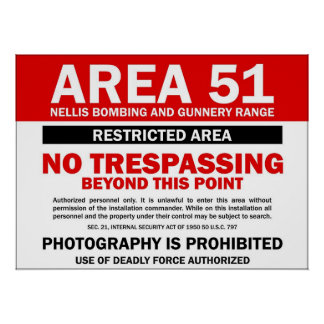 Area 51 - Restricted Area Poster