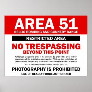 Area 51 - Restricted Area Print