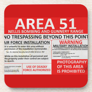 Area 51 Sign Beverage Coaster