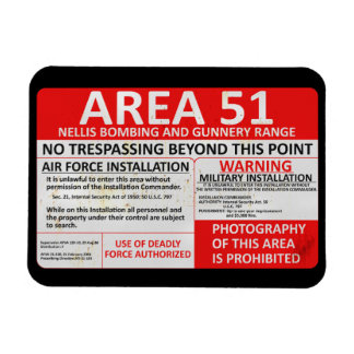 Area 51 Sign Magnet
