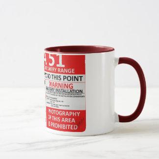 Area 51 Sign Mug