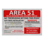 Area 51 Sign Poster