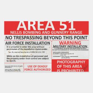 Area 51 Sign Rectangular Sticker