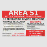 Area 51 Sign Stickers