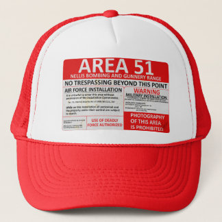 Area 51 Sign Trucker Hat
