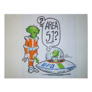 Area 51 spaceman card