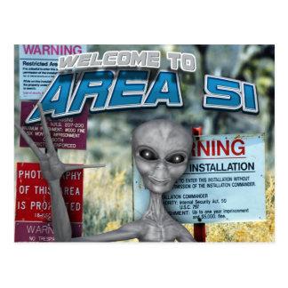 Área 51 tarjetas postales
