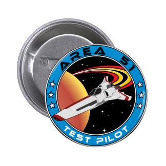 Area 51 Test Pilot Pinback Button