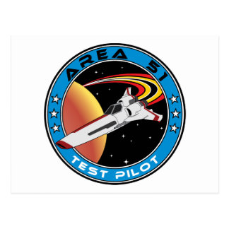 Area 51 Test Pilot Postcard