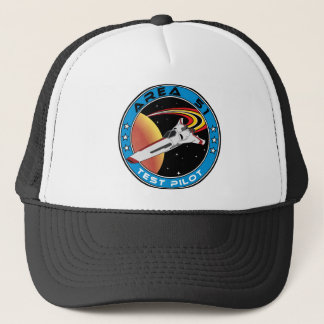 Area 51 Test Pilot Trucker Hat