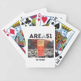 Area 51 - Top Secret - Aliens Cards Bicycle Playing Cards