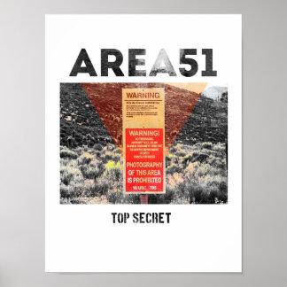 Area 51 - Top Secret - Aliens Poster
