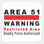 Area 51 Warning Sticker