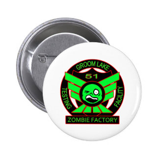 Area 51 Zombie Factory 2 Inch Round Button
