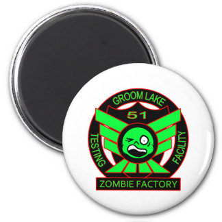 Area 51 Zombie Factory 2 Inch Round Magnet