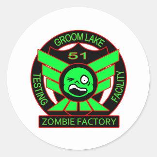 Area 51 Zombie Factory Classic Round Sticker
