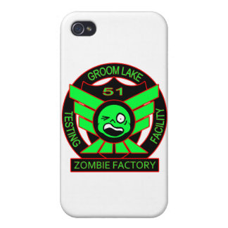 Area 51 Zombie Factory Cover For iPhone 4