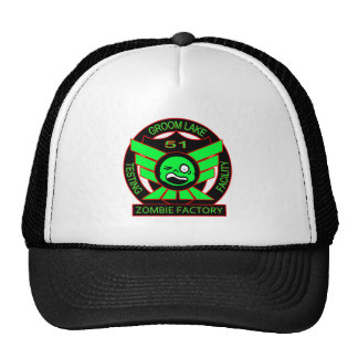 Area 51 Zombie Factory Hats