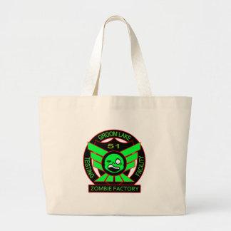 Area 51 Zombie Factory Jumbo Tote Bag