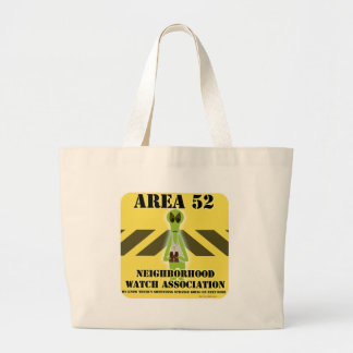 Area 52 Alien Style Large Tote Bag