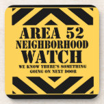 Area 52 Neighborhood Watch Beverage Coasters