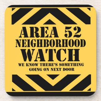 Area 52 Neighborhood Watch Coaster