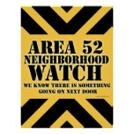 Area 52 Neighborhood Watch Poster