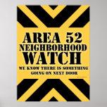 Area 52 Neighborhood Watch Posters