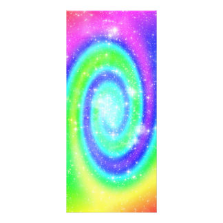 area-694717 COLORFUL FUN DIGITAL SWIRLS SPACE STAR Rack Card
