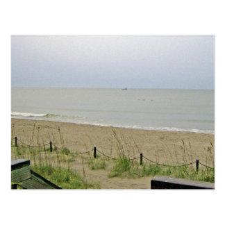 Área abandonada de la playa postal