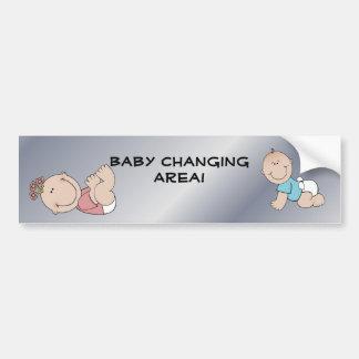 ¡Área cambiante del bebé!  El restaurante suminist Etiqueta De Parachoque