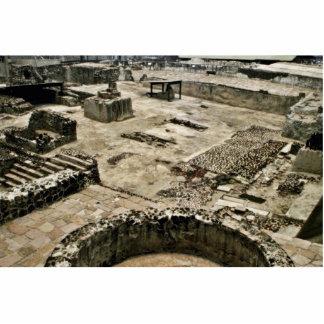 Área ceremonial de alcalde de Templo, Ciudad de Mé Escultura Fotográfica