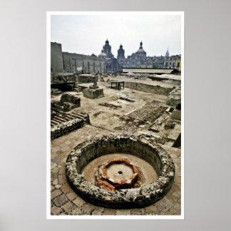 Área ceremonial de alcalde de Templo, Ciudad de Mé Posters