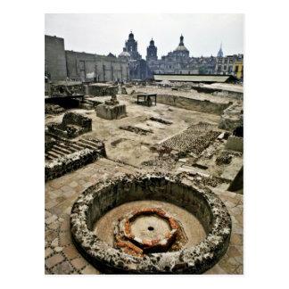Área ceremonial de alcalde de Templo, Ciudad de Mé Tarjeta Postal