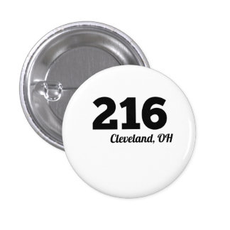 Area Code 216 Cleveland OH 1 Inch Round Button