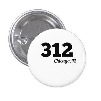 Area Code 312 Chicago IL 1 Inch Round Button
