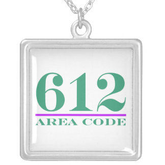 Area Code 612 Silver Plated Necklace