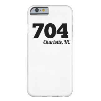 Area Code 704 Charlotte NC Barely There iPhone 6 Case