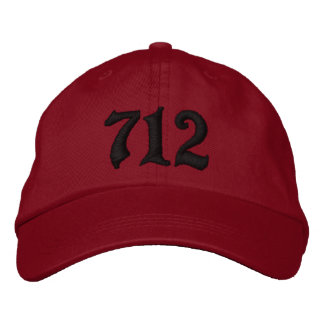 Area Code 712 , Sioux City, IOWA Embroidered Baseball Cap