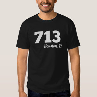Area Code 713 Houston TX Tee Shirt