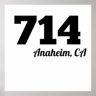 Area Code 714 Anaheim CA Poster