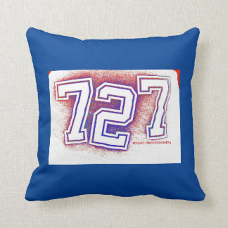 AREA CODE 727 PILLOW-BLUE/RED/WHITE