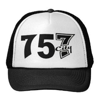 Area Code 757city - Black Cap Trucker Hat