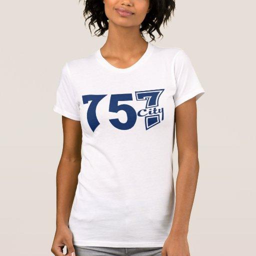Area Code 757city - Blue Shirt
