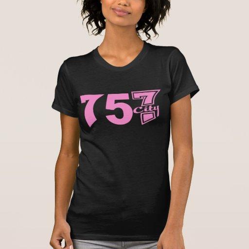 Area Code 757city - Pink T Shirt