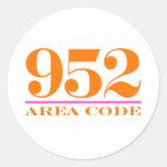 Area Code 952 Sticker
