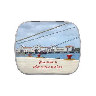Área de embarque de Cozumel personalizado Jarrones De Caramelos